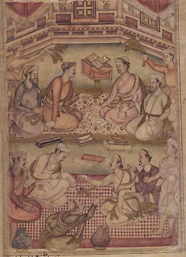 A Debate among Scholars, Razmnama illustration