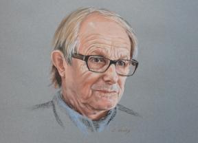 Ken Loach's portrait by Andromaque78