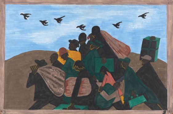 Migration by Jacob Lawrence..