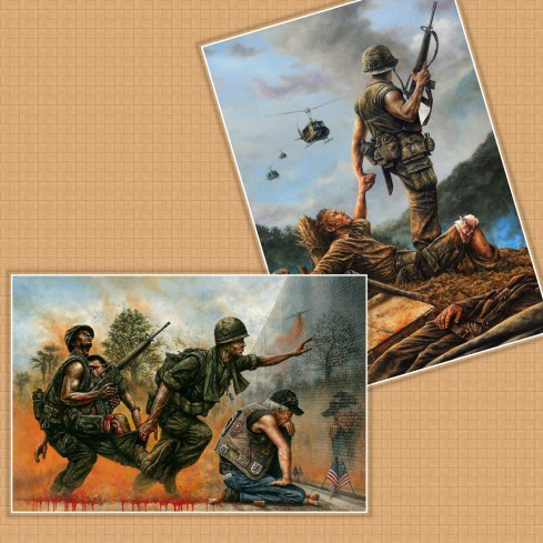 Vietnam war, paintings of Dan Nance